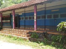 Una scuola del treno del Kerala Fotografia Stock Libera da Diritti