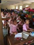 Una scuola in Hispaw (Myanmar) Fotografia Stock Libera da Diritti