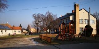 Una scuola primaria dall'Ungheria immagine stock