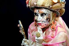Una señora enmascarada venitian Foto de archivo libre de regalías