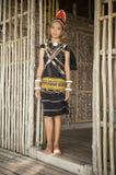 Una señora joven de Rungus étnico Fotos de archivo