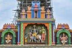 Una sección del arco de la entrada al templo hindú de Naguleswaram en Keerimalai en la región de Jaffna de Sri Lanka Foto de archivo libre de regalías