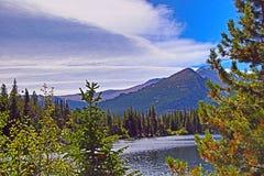 Una secuencia de la montaña imagenes de archivo