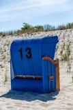 Una sedia di spiaggia Fotografia Stock Libera da Diritti