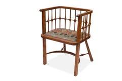 Una sedia pranzante di legno antica Fotografia Stock