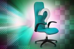 Una sedia vuota con il punto interrogativo Fotografia Stock Libera da Diritti
