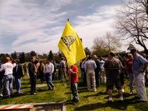 Una segunda demostración temprana de la enmienda en Portland, Maine fotos de archivo