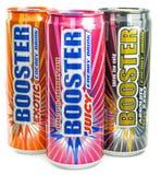 Una selección de bebidas de la energía del aumentador de presión Foto de archivo
