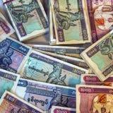 Billetes de banco birmanos del kyat Foto de archivo libre de regalías