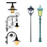 Una selección de lámparas de calle Foto de archivo