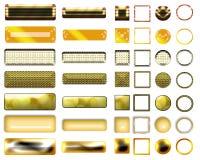 Una selección hermosa de sitio web abotona en diversas formas Imagenes de archivo