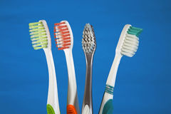 Una selezione dei toothbrushes Fotografie Stock