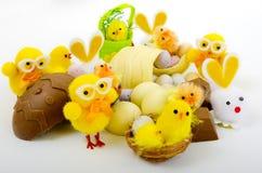 Una selezione delle uova di Pasqua Immagini Stock Libere da Diritti