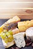 Una selezione di formaggio fine Immagine Stock Libera da Diritti