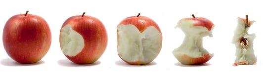 una sequenza delle 2 mele Fotografia Stock Libera da Diritti