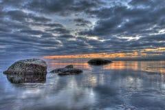 Una sera dal mare in HDR Immagine Stock