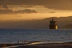 Una sera sul Mar Rosso Fotografie Stock Libere da Diritti
