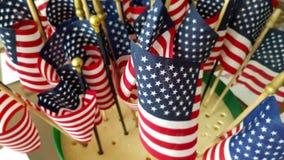 Una serie de banderas americanas Indicadores de los E fotos de archivo libres de regalías