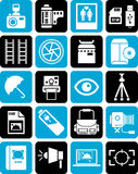 Iconos para la fotografía Imagen de archivo