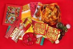 Una serie de preparación para dios de la fortuna adora Foto de archivo libre de regalías