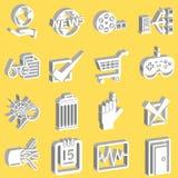 Una serie de Web y de iconos computacionales Imágenes de archivo libres de regalías