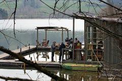 Una serie del film di crimine in Baviera Fotografie Stock