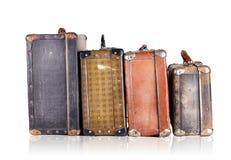 Una serie di vecchie valigie Immagini Stock Libere da Diritti