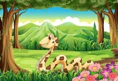 Una serpiente en la selva libre illustration