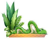Una serpiente verde ilustración del vector