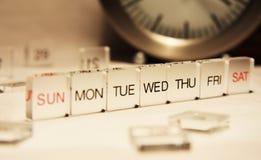 Una settimana Fotografie Stock