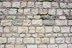 Una sezione di vecchia parete di pietra Immagini Stock Libere da Diritti