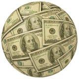 Una sfera di $100 fatture Fotografia Stock Libera da Diritti