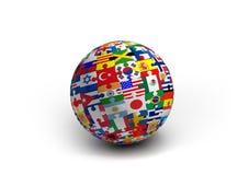 Una palla di puzzle della bandiera del mondo Immagine Stock