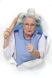 Una signora anziana minacciosa fotografie stock libere da diritti