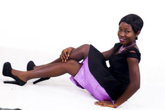 Una signora dell'americano dell'africano nero immagine stock