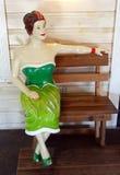 Una signora di plastica al minimarket della parete Fotografie Stock Libere da Diritti