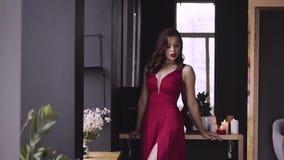 7966a41b6578 Donna Elegante Sensuale Vicino Allo Specchio Archivi Video - Video ...