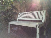 Una silla blanca Foto de archivo libre de regalías