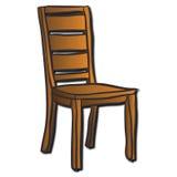 Una silla de madera Imagenes de archivo