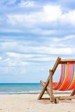 Silla de playa Imágenes de archivo libres de regalías