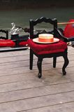 Una silla del gondolero en Venecia Foto de archivo