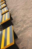 Una silla vacía del parque Imagenes de archivo