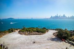Una silueta de San Francisco City en California foto de archivo libre de regalías