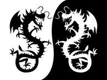 Una siluetta di un drago. royalty illustrazione gratis