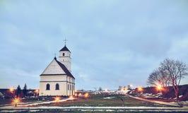 Una singola chiesa in Bielorussia Fotografia Stock Libera da Diritti