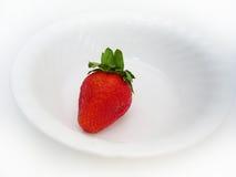 Una singola fragola Fotografia Stock