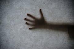 Una sombra de la mano Fotografía de archivo libre de regalías