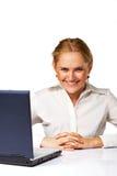 Una sonrisa de la mujer de negocios Fotografía de archivo libre de regalías