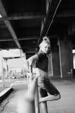 Una sonrisa de la mujer joven Imagenes de archivo