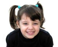 Una sonrisa de la niña Imagen de archivo